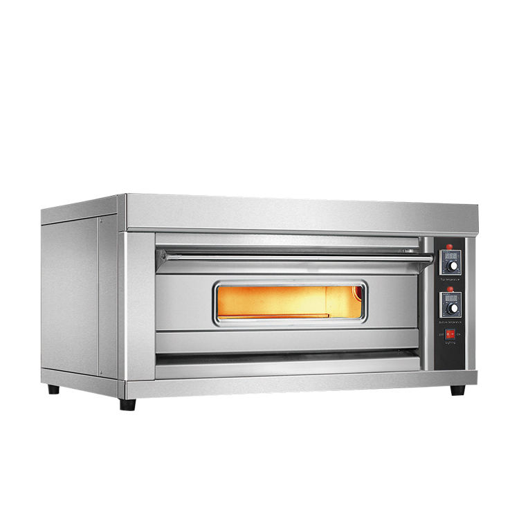 Commercial Industrial Bakery Electric and Electric Deck Pizza Bread 1 Deck 1 Tray Baking Oven