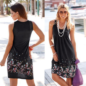 New ladies print tube top dress sleeveless summer sexy women clothing casual dresses