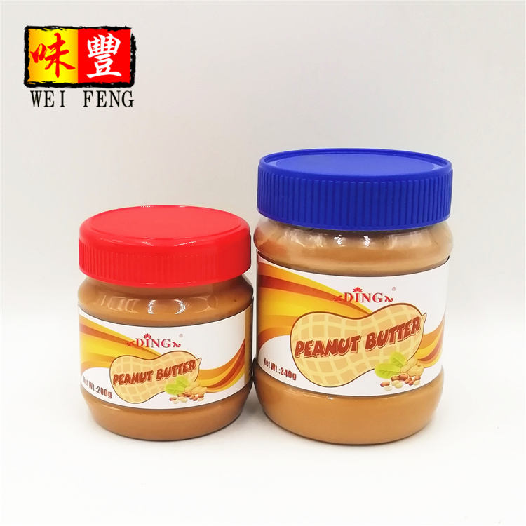Factory Chinese BrandまたはOEM Bread Sandwich Sauce Toast Paste Wholesale Price 340グラムPeanut Butter