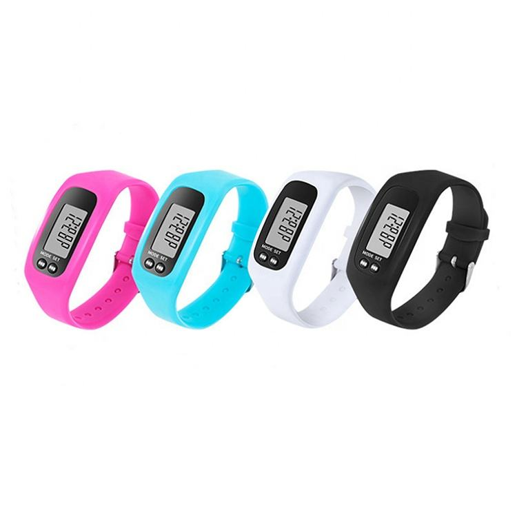 watches smart sports Smart watch silicone pedometer with wristband calorie pedometer