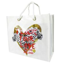 New fashion eco friendly promotional recycled custom logo printed cotton canvas gift bag shopping bag