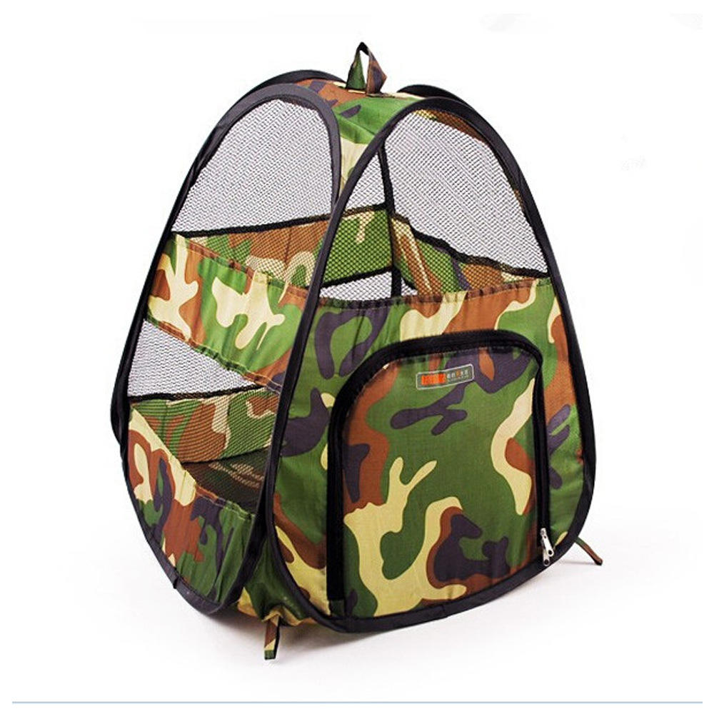 Camouflage pop up ultralight durable pet camping tent indoor outdoor sunshade car tent scratch-resistant cat dog toy tents