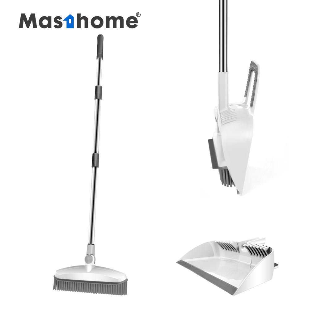 Masthome New design TPR material broom aluminum rod broom with dustpan set for housework