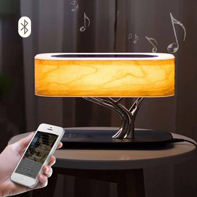 LED Desk lamp light of life with Wireless Charger Dimmable Office Table Lamp Touch Control for Sleeping Night Bedside Lamp