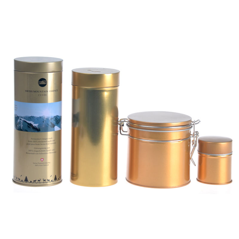 Wholesale Tin cans container metal copper tea tins 400g tin can price