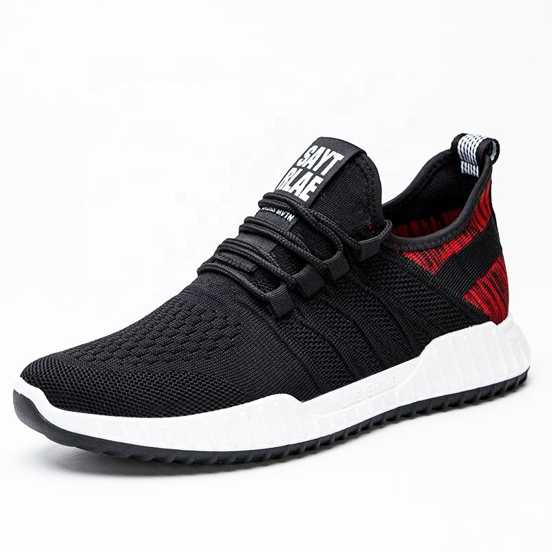 Good quality New model Fashion hi top Breathable Men Running Sports Causal shoes Cheap Price
