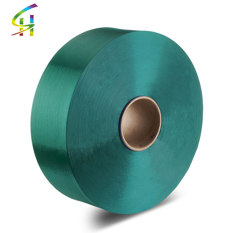 Polyester dope dyed POY filament Yarn 750D for Final DTY 450D