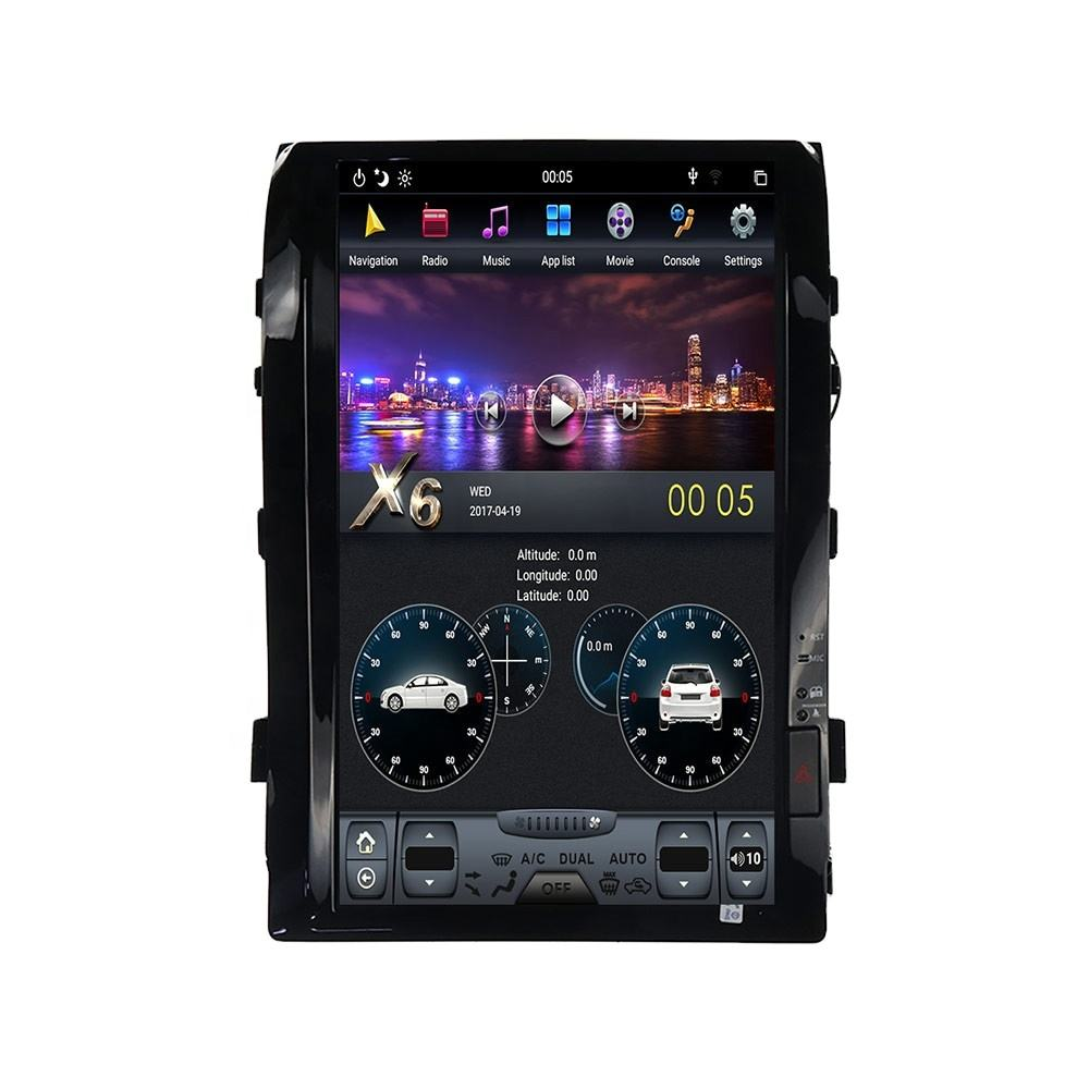16 ''Android 9,0 PX6 Vertikale bildschirm Auto GPS Navigation Für Toyota Land Cruiser LC200 2008-2015 Stereo Multimedia player Radio