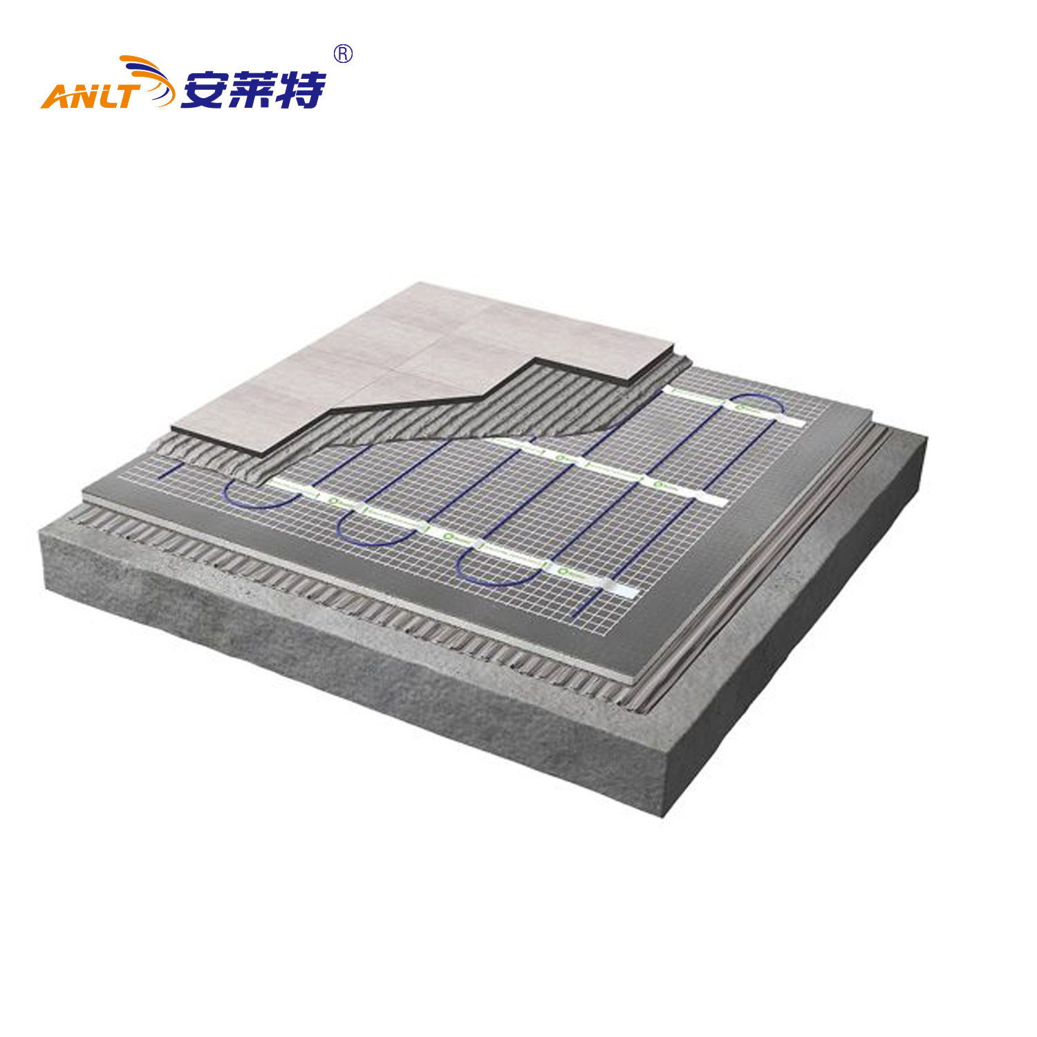 Electric Underfloor Heating mat Tile Radiant Warm System Self Adhesive Mats