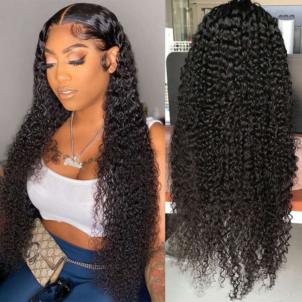 Cheap Wholesale wet curls 100 hair human lace wig, wig 4x4 closure wig human hair, cutile aligned 30 inches human hair wig
