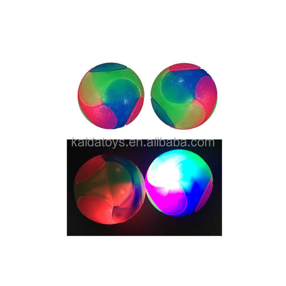 Pet luminous toy bouncy ball bite-resistant plastic toys