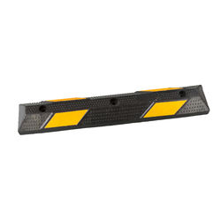 SC-WS03A  900mm  yellow black speed humps car wheel stop  for  Roadway saftey