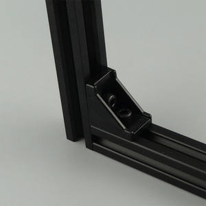 Black anodized 4040 industrial aluminium profiles frame material  40x40 t-slot extruded aluminum profile