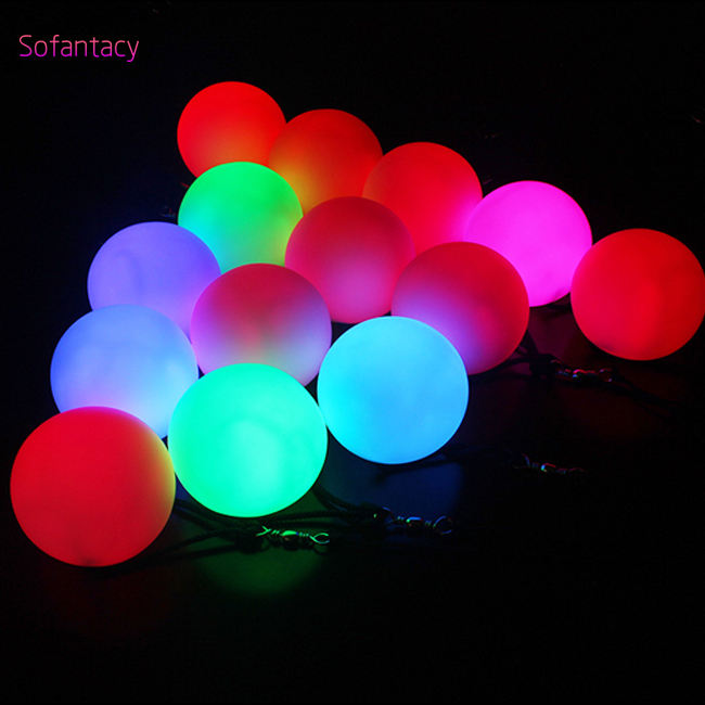 Aazon hot sale cheapest led juggling balls Glowing poi ball