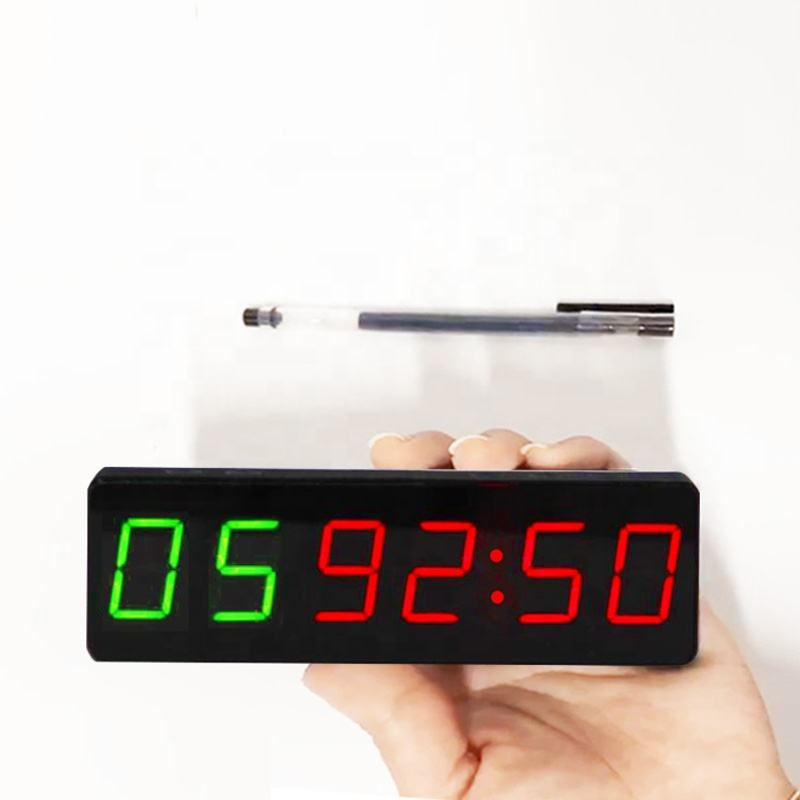Home Garage 1 inch Rechargeable Portable Tiny Workout GYM Timer with Magnet