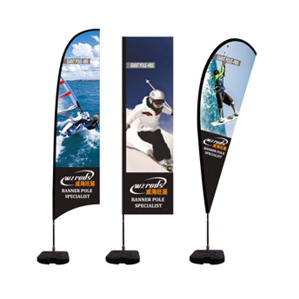Wzrods Rotating Tear Drop Flag Banner Steag Rotativ Lacrima 670 cm Cu Baza Tarus Musi kridlo Fly Wing For Promotion