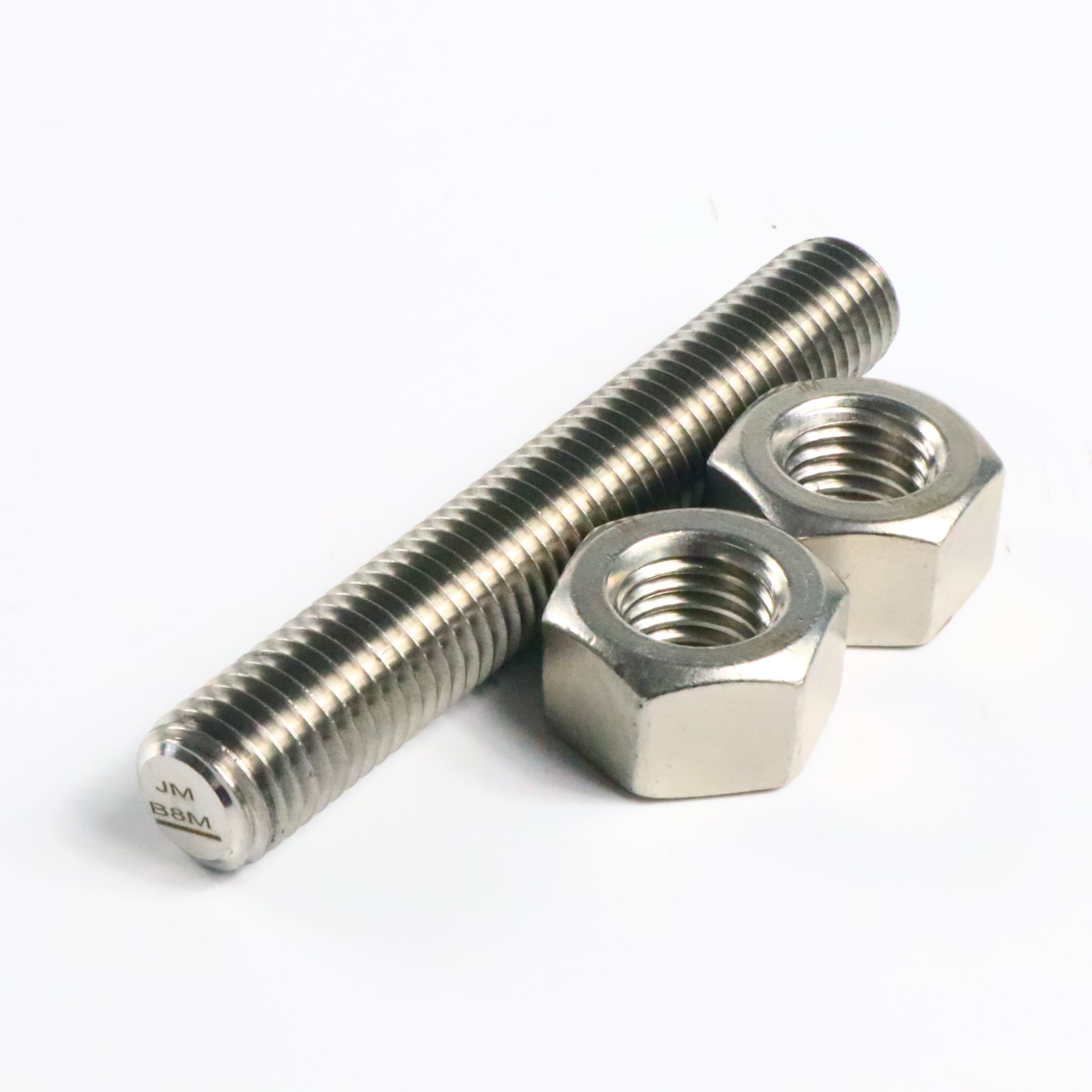 SS316 L ASTM A193 B8 B8m Class2 Stainless Steel Stud Bolt And Nut