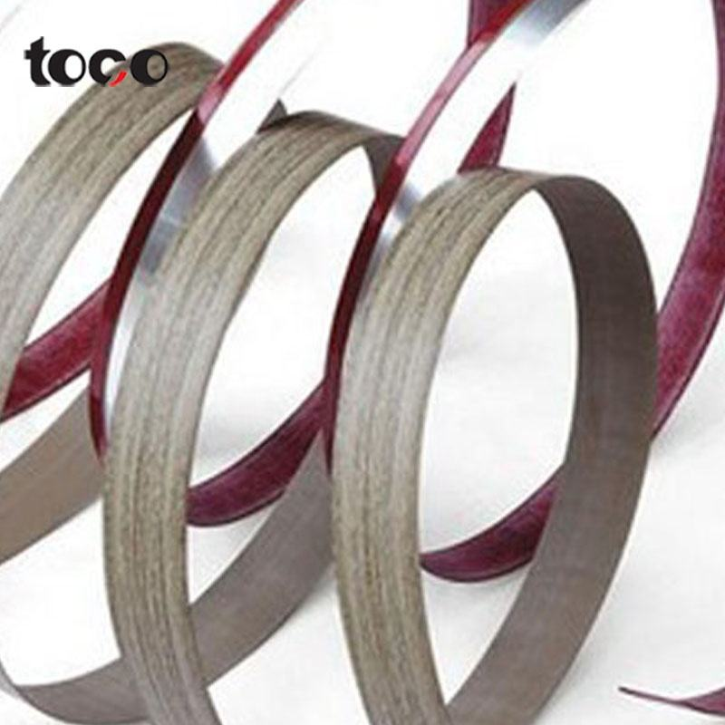 Indische Oceaan Sri Lanka plastic strip pvc woodgrain rand band tape strip hout fineer rand tape kantenlijmers trimmer