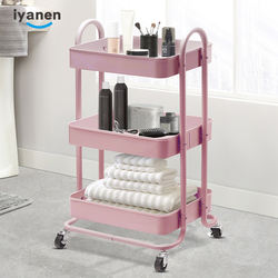 IYANEN home indoor 3 layer furniture utility metal trolley c