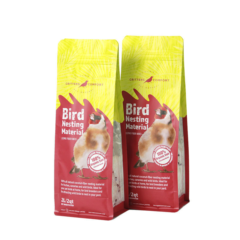 Eight sides sealed bird seed package easy tear open plastic bag