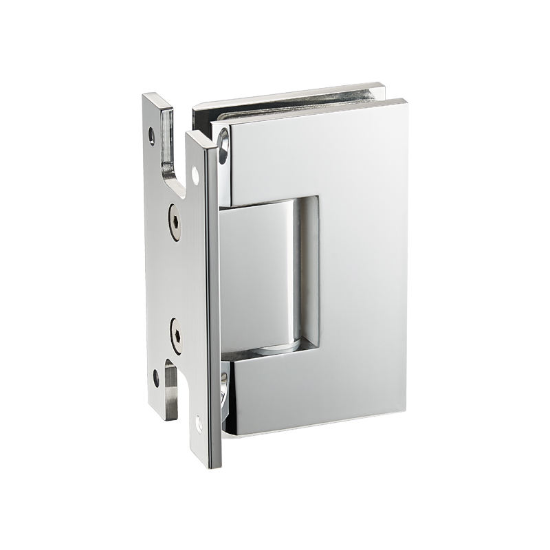 90 Degree Wall Mount H Back Plate Hinge 304 stainless steel glass to wall hardware shower hinge