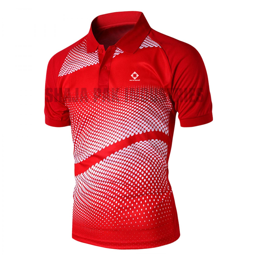 Wholesale Factory Supplier Sublimation Polo T-Shirt Short Sleeve Sublimation Printing Custom Polo T- Shirt Design