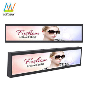 Ultra Wide Screen 28 Inch Ultra-Wide Stretched Bar Type TFT LCD Advertising Display Monitor