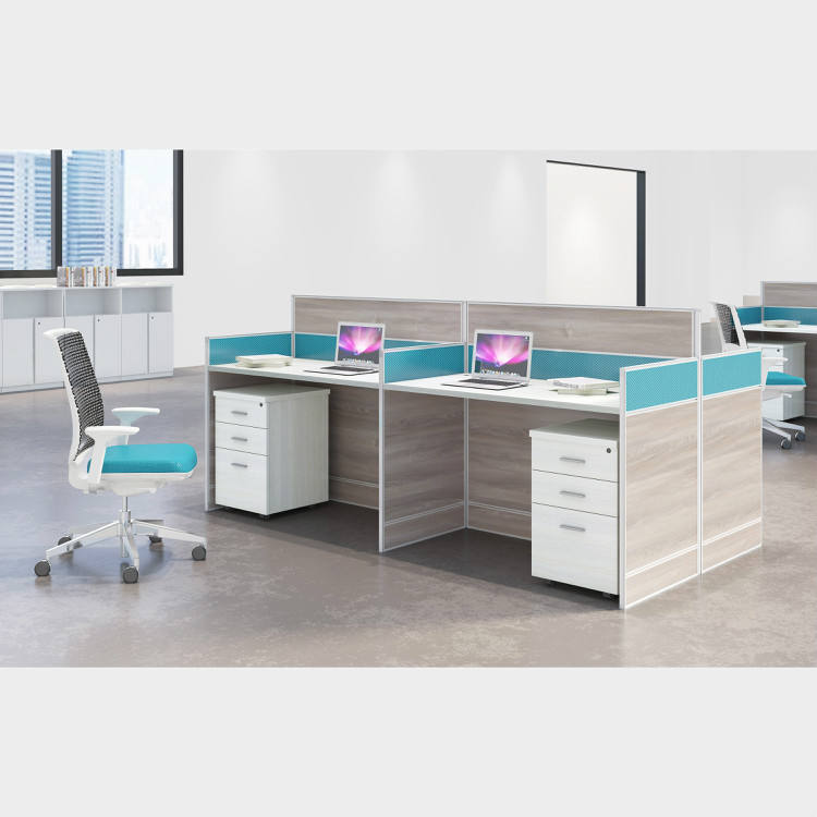 Open MDF Modular Office Workstation call center work table cluster office table group