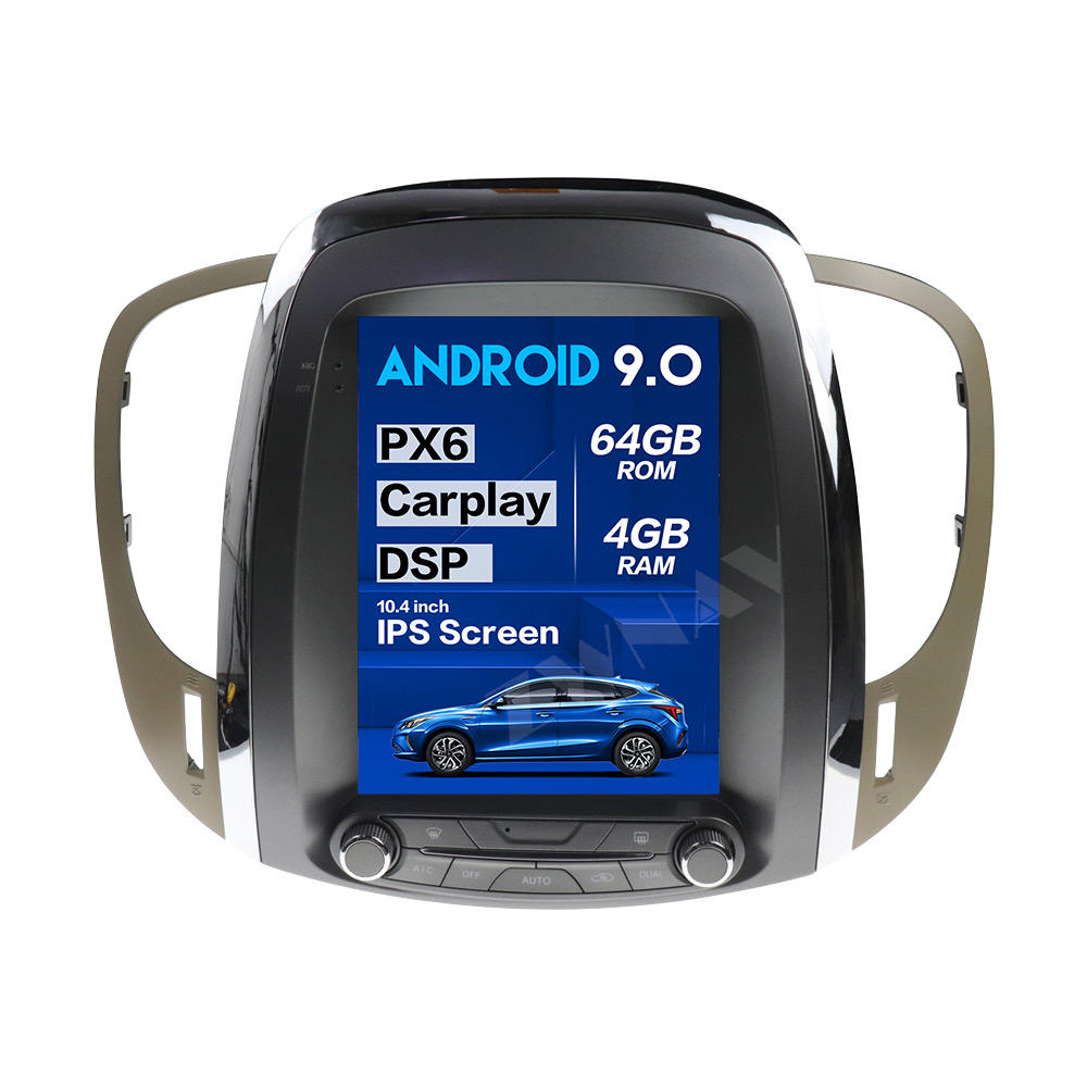 PX6 4 + 64G Tesla Style Big Screen Android 9.0 Car Multimedia Player For Buickラクロス2007-2014 GPS Audio Radioステレオヘッドユニット