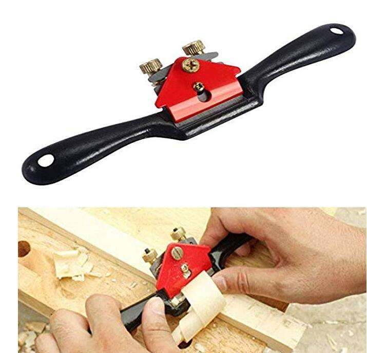 10'' Adjustable SpokeShave with Flat Base and Metal Blade for Wood Craft Wood Craver Wood Working and Hand Tool