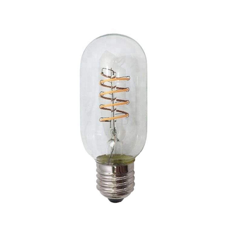 T45 Dimbare 4W <span class=keywords><strong>Antieke</strong></span> Vintage Edison Led-lampen Amber Glas 2700K E26 Buisvormige Stijl Lampen