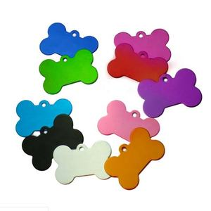 AJF colorful aluminium colorful bone shaped Pet ID Tags