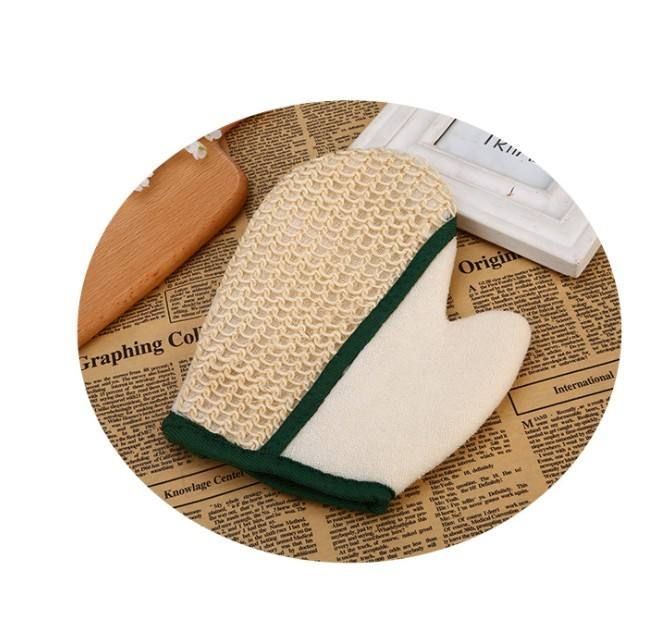 Natural Sisal/Terry Bath Spa Glove Loofah Scrubber mitt