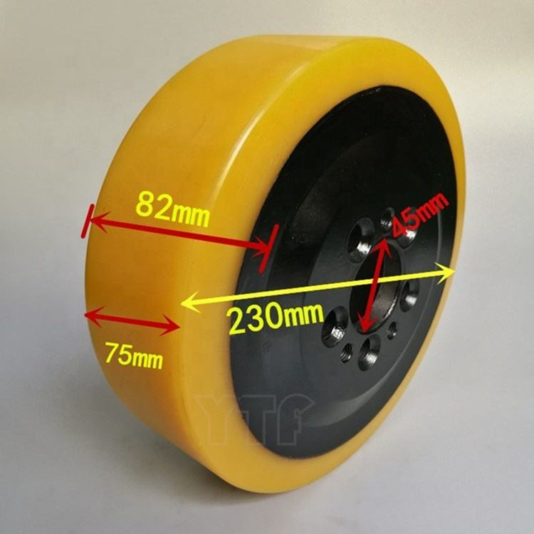 Factory Price Durable 230x70/82-45mm Polyurethane Electric Forklift Drive /Traction Wheels Still 4359920