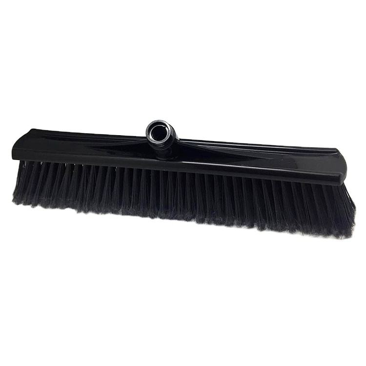 Hot sale large push broom head, big industrial broom for Cleaning Deck, Patio, Garage, Driveway