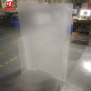 Spray preventing Divider Clear Acrylic Table Shield Protective Sneeze Guard for restaurant