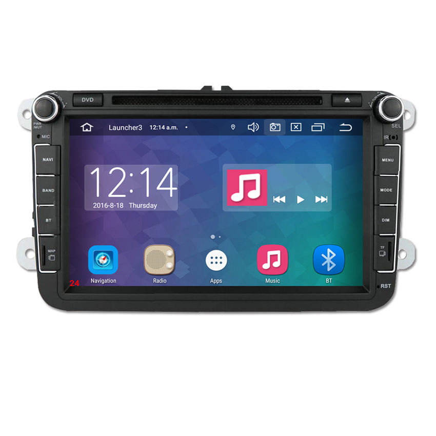 8inch 2 din headunit car radio android 10.0 for Seat Leon 2005-2011 Skoda VW car dvd navigator with gps/map/mic/remote/bt