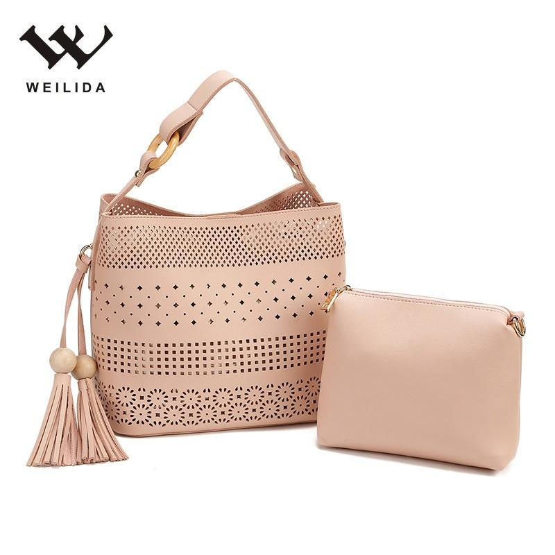 China Cheap PU Leather Handbag Candy Color Women Purses Pink Hand Bags In Bulk