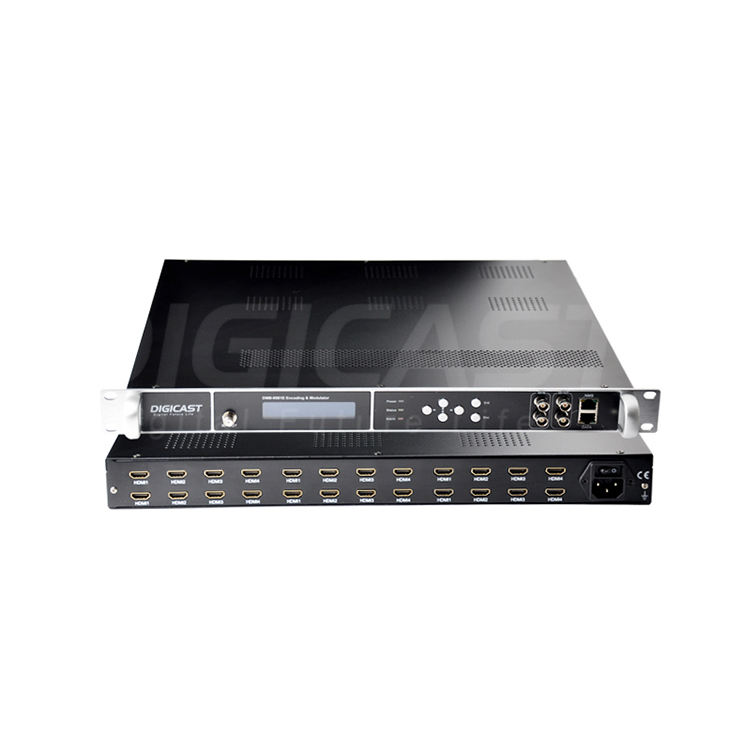 Multi Channel HD H.264 Encoder Modulator 4 atau 8 Output RF Transcoder