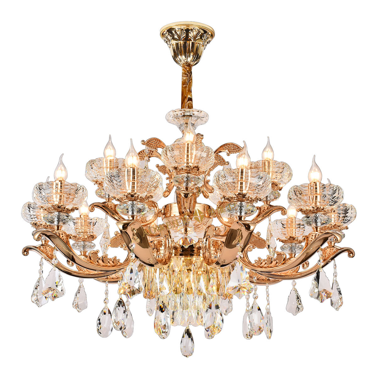 Zhongshan Wholesale LED Ceiling Lights K9 Crystal Pendant Chandelier