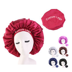Private Label Long Hair Sleep Caps Bonnet Plus Size Sleeping