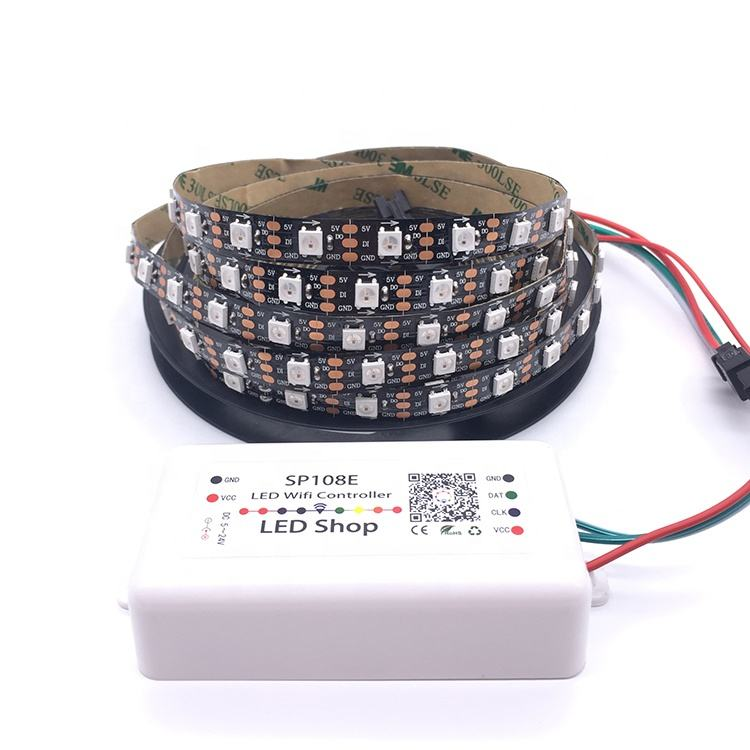 SP501E Wifi SPI LED Controller Light WS2812B WS2811 Addressable RGB Strip Amazon Alexa APP Control DC5-24V