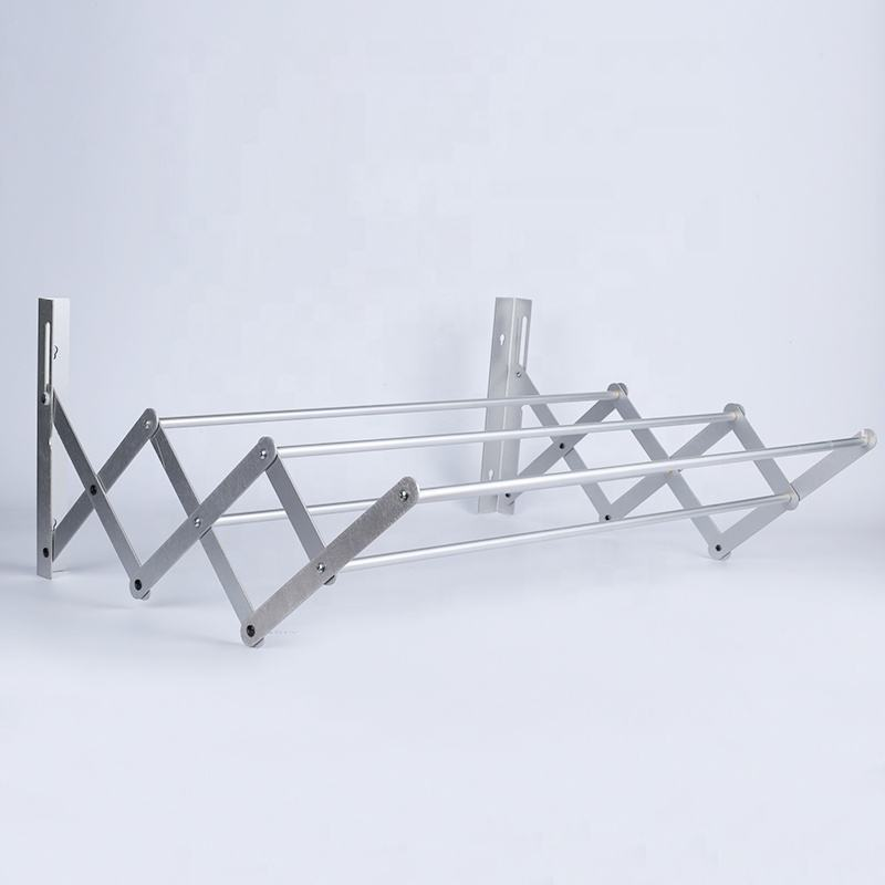 Hanging Cloth Wall Mounted Aluminium Clothes Drying Rack