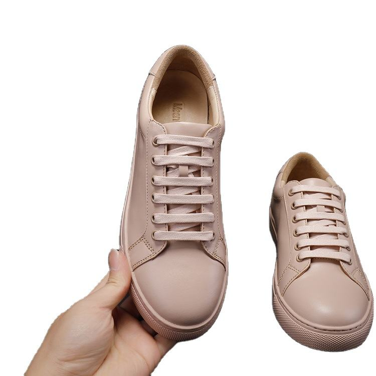 Fashion Genuine leather common small white shoes men and women new flat bottomed versatile board shoes trend