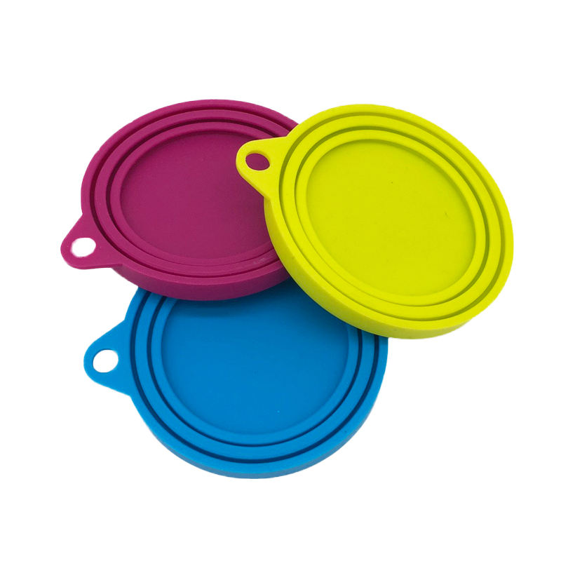 Pet Food Can Covers Universal Silicone Can Lids- One Size fit 3 Standard Size Dog and Cat Can Tops BPA free Food Grade