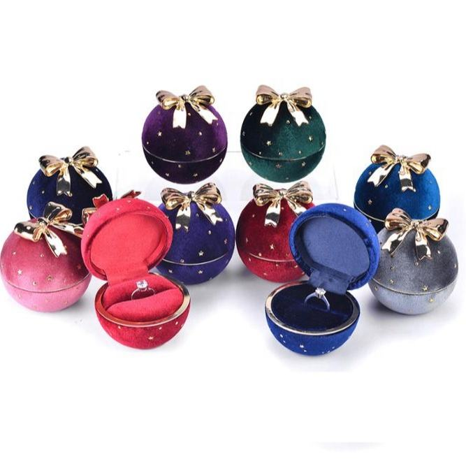 Wholesale Custom Jewelry Packing Pendant Ring box Earring Jewelry Box velvet jewelry box