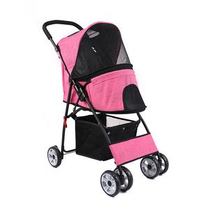 New Design Breathable Pet Strollers Foldable Dog Stroller 600D Oxford Luxury Cat Pet Stroller