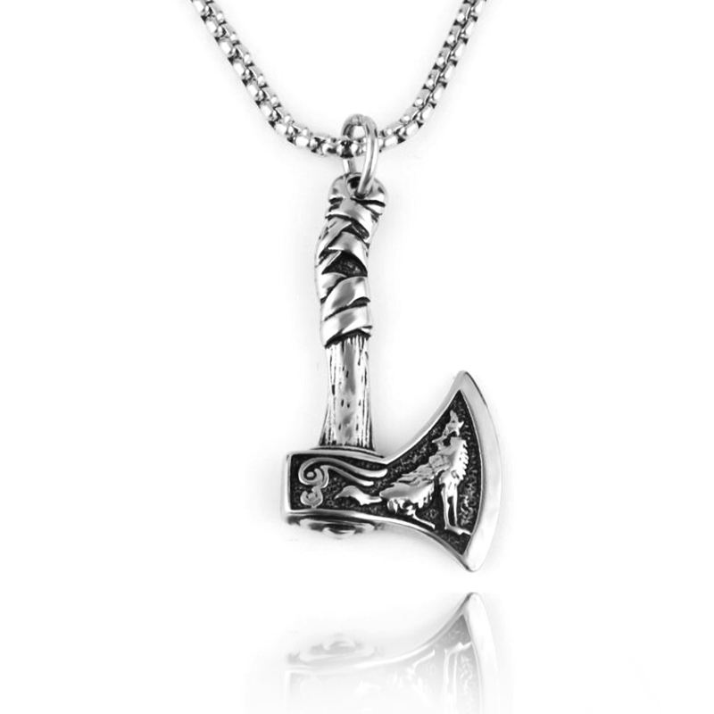 Stainless Steel Jewelry Viking Celtic Tomahawk MenのNecklace EuropeanとAmerican Personality Titanium Steel Pendant