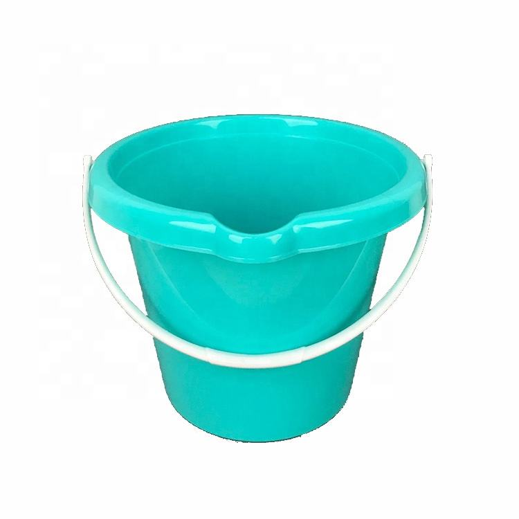 Heavy Duty Sturdy Spout Pail Bucket IML 8L Plastic Water Bucket with Durable Grip Handle for Cleaning, Mopping, Storage, Paint
