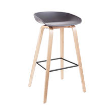 High Bar Chair Butterfly Solid Black White Plastic Seat Metal Legs Fashionable Style Living Packing Bar Room Furniture